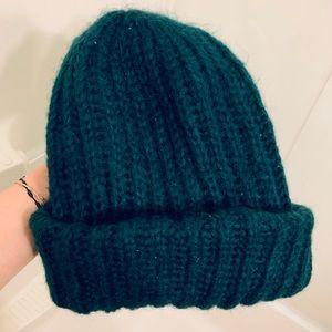 Dark green winter hat
